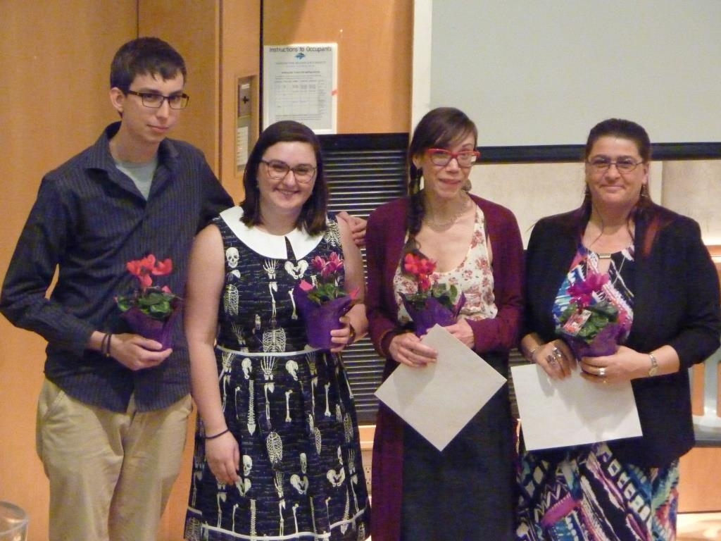 2018 Anthropology Award Recipients: Simon, Melissa, Chantelle, and Carrie