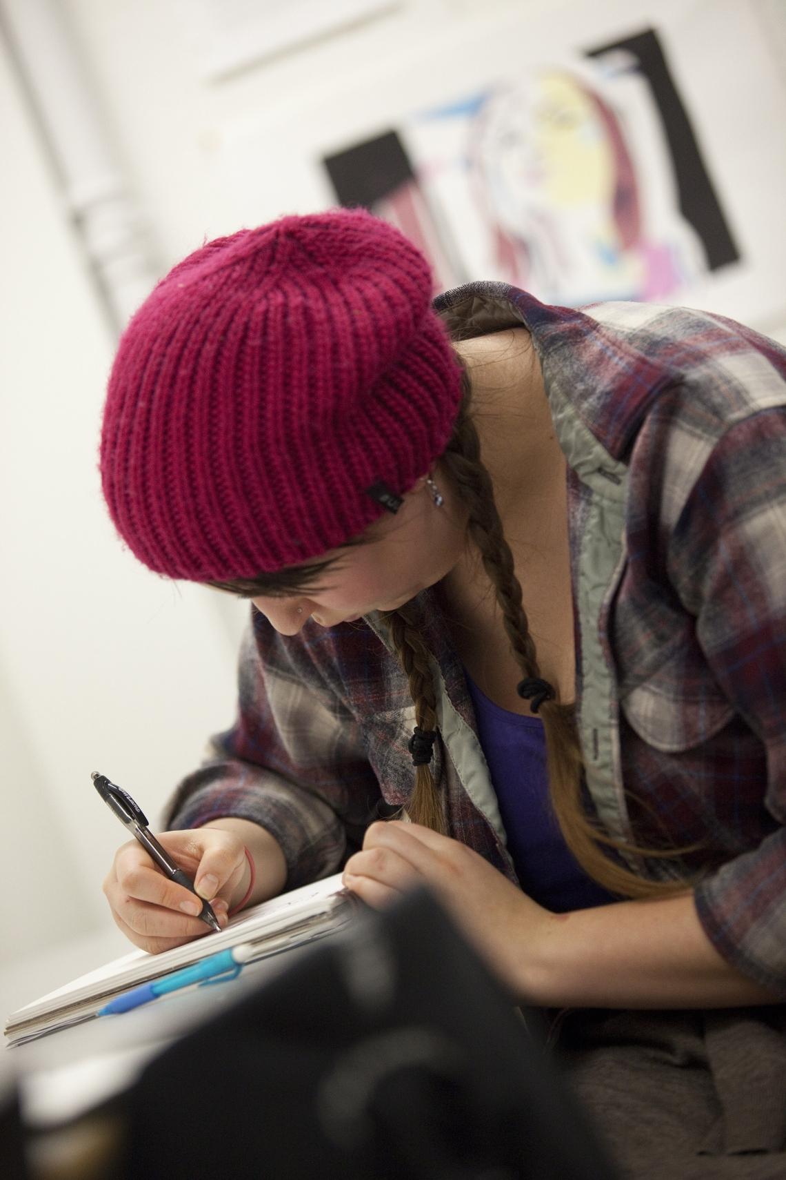 VIU Visual Art Program Student