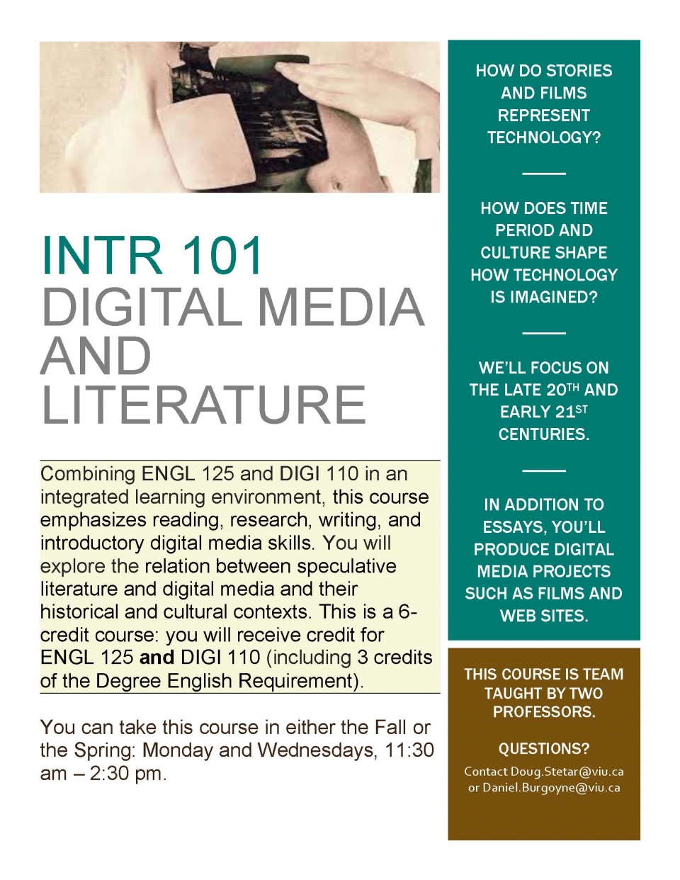 INTR 101 image with course description