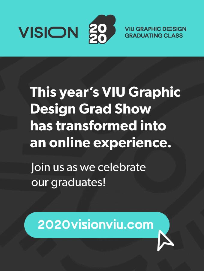 VIU Grad Show 2020 Vision Banner
