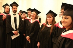 Anthropology grads ready for show time.