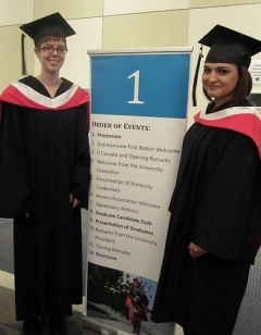 Julia and Sharae ready to graduate