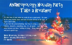 Anthropology Holiday Party, December 13