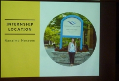 Image from Chelsea Forseth's internship at Nanaimo Museum presentation