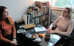 Interviewing Marie for Chelsea's CHLY program, Culture Talks