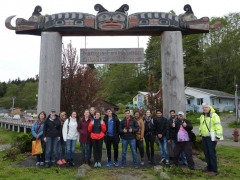 North Island Museums and Their Communities, 2017, field school group in Alert Bay.