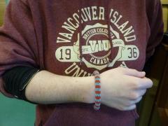 Tanzanian beaded bracelet, one of the raffle prizes, Anthropology Forum 2018