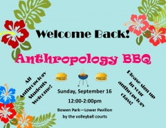 Welcome Back! Anthropology BBQ - 16 Sep 2018